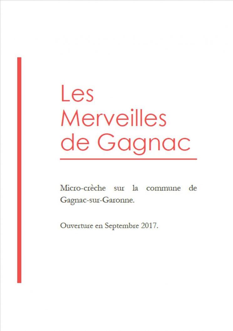Crèche les merveilles de Gagnac – Ouverture en septembre 2017