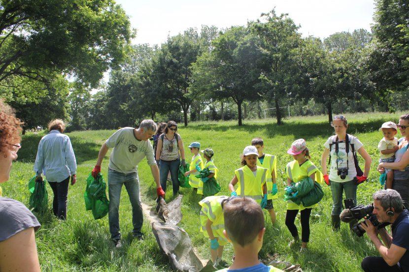 Opération nettoyage des berges de Garonne