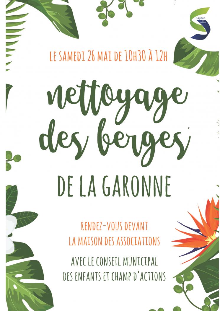 Nettoyage des berges de la Garonne