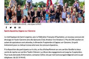 11 08 2018 Concours De Dressage Au Club Hippique Du Garrel