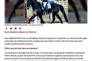 16 08 2018 Céline Joly, L'écuyère Qui Fait Piaffer Les Chevaux Page 1
