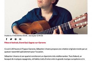 17 03 2018 Sébastien Llinares Au Festival De Guitare