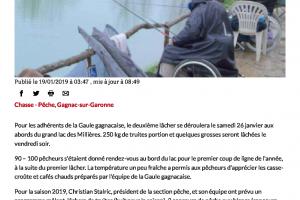 19 01 2019 100 Pêcheurs Au 1er Lâcher De L'année