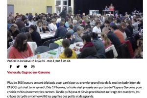 20 02 2018 Carton Plein Au Grand Loto Du Bad
