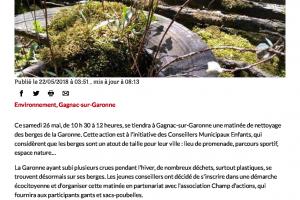 22 05 2018 Nettoyage Des Berges De La Garonne