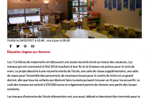 24 02 2017 De Nouvelles Classes Aux écoles