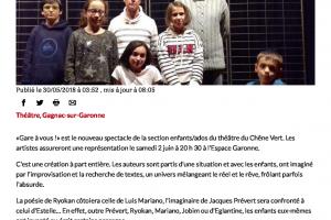 30 05 2018 Première Scène Pour De Jeunes Acteurs