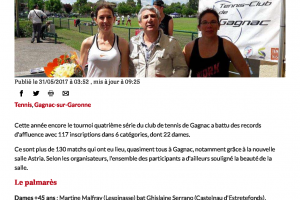 31 05 2017 Rrecord D'affluence Au Tournoi De Tennis