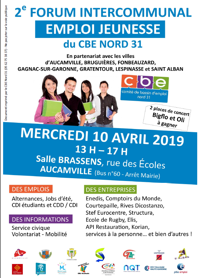 Forum Emploi Jeunesse Intercommunal du CBE