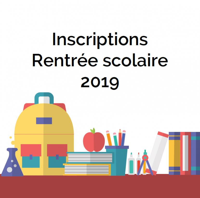 Inscriptions Rentrée 2019