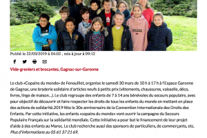 22 03 2019 Braderie Solidaire Samedi 30 Mars