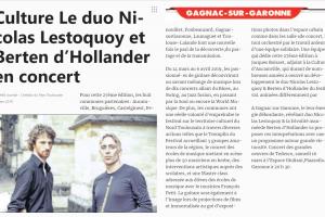 Le Duo Nicolas D'lestoquoy Et Berten D'hollander En Concert