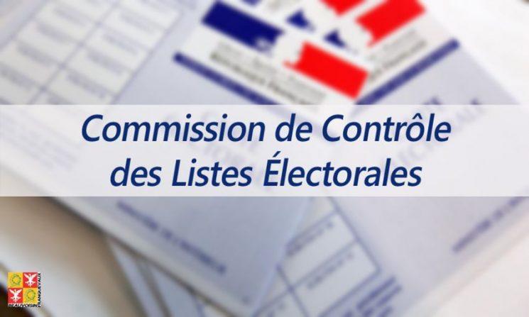 Commisssion de contrôle des listes électorales