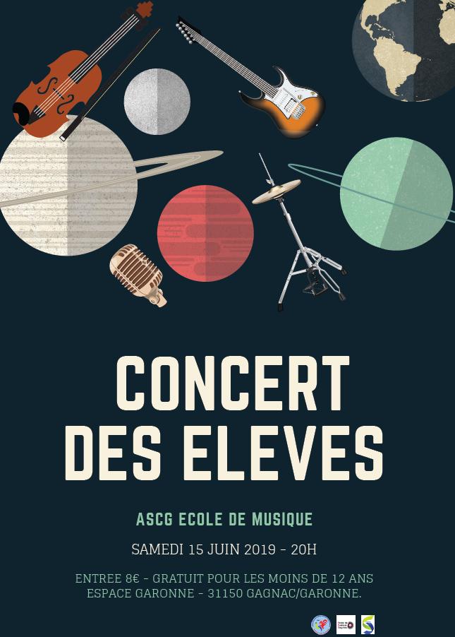 Concert des élèves de l'école de musique