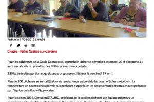 17 04 2019 Les Pêcheurs Se Retrouvent Au Bord Du Lac Des Millères