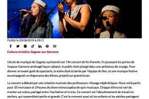 25 06 2019 Le Voyage De L'école De Musique Ladepeche