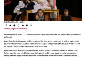 Les Jeunes Du Théâtre Du Chêne Vert En Scène Ladepeche