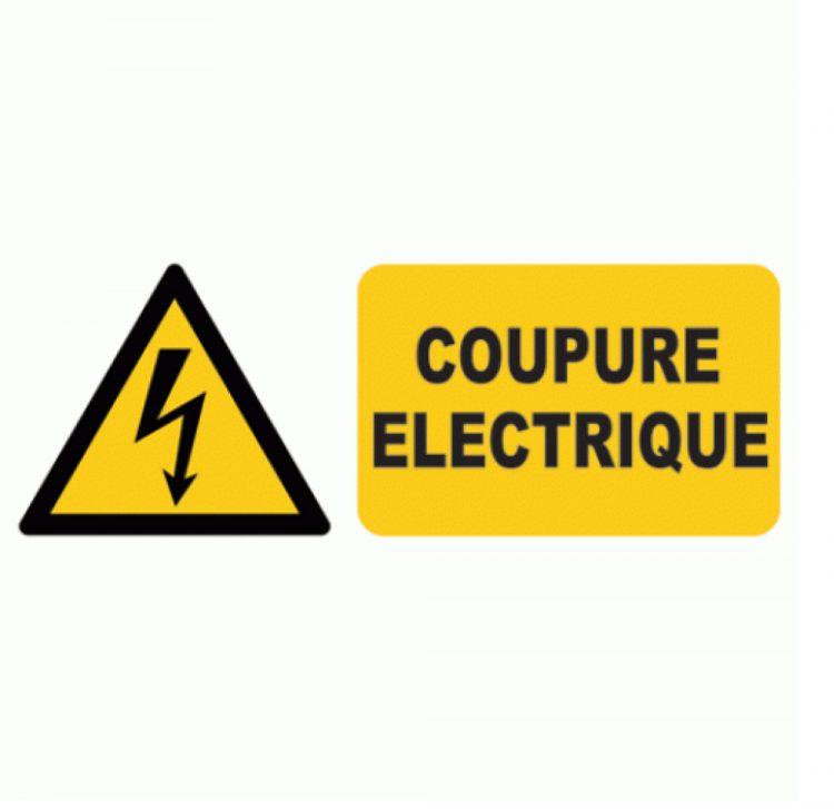 Coupure d'électricité mardi 23 juillet