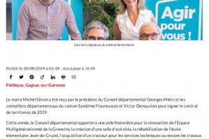 20 08 2019 Contrat De Territoire L'école Cruzel Sera Réhabilitée