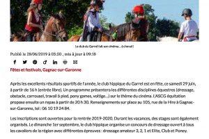 28 06 2019 Le Club Du Garrel Fait Son Cinéma à Cheval