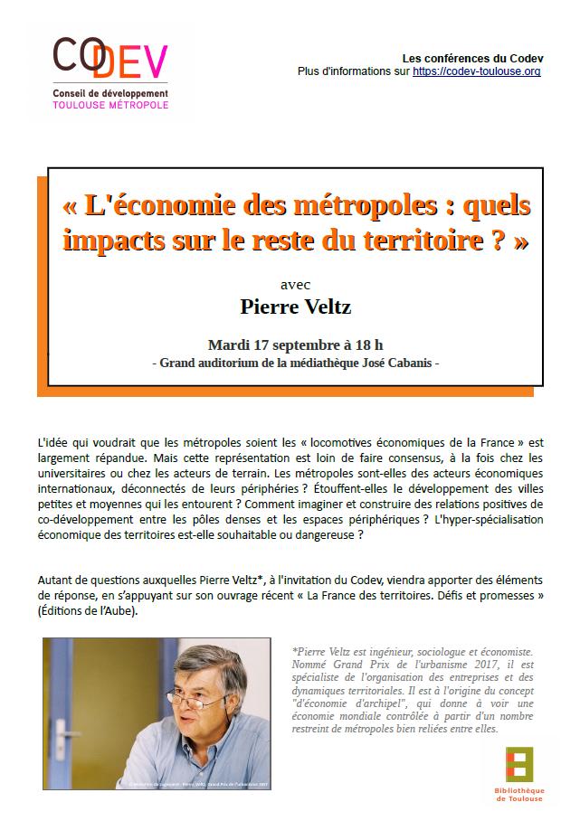 Conférence : « L'économie des métropoles : quels impacts sur le reste du territoire ? »
