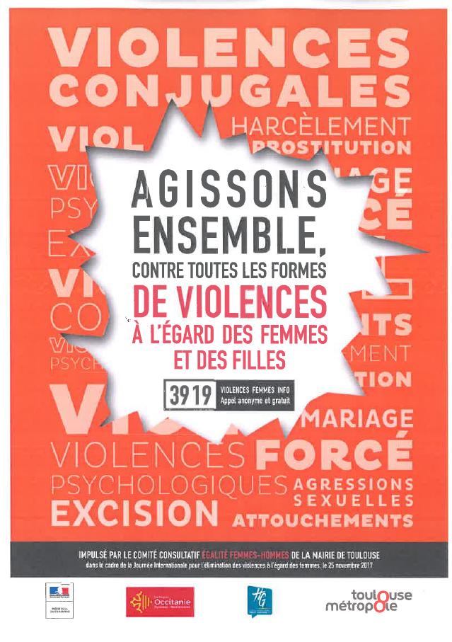 Agissons ensemble contre les violences faites aux femmes