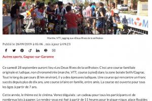 26 09 2019 Marche, VTT, Jogging Aux 2 Rives De La Seilhoise