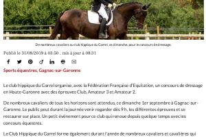 31 08 2019 Concours De Dressage Pour La Rentrée équestre