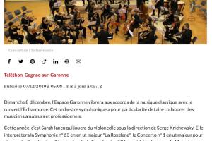 07 12 2019 Téléthon Concert Classique