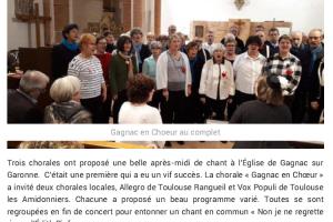 22 12 2019 Première Rencontre De Chorale à L'Église De Gagnac