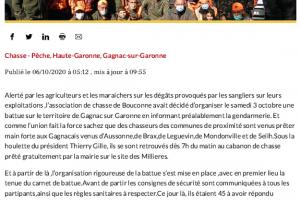06 10 2020 Un Beau Tableau De Chasse Pour Une Première Battue
