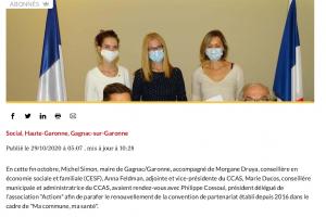 29 10 2020 Ma Commune Ma Santé Convention Renouvelée à Gagnac 01
