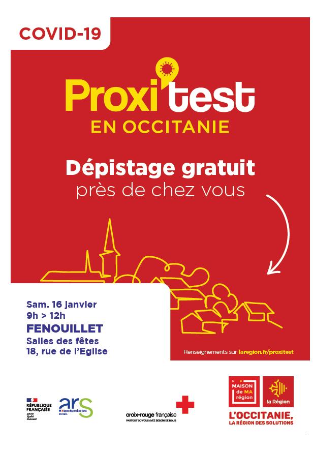 TESTS GRATUITS DE DÉPISTAGE À FENOUILLET