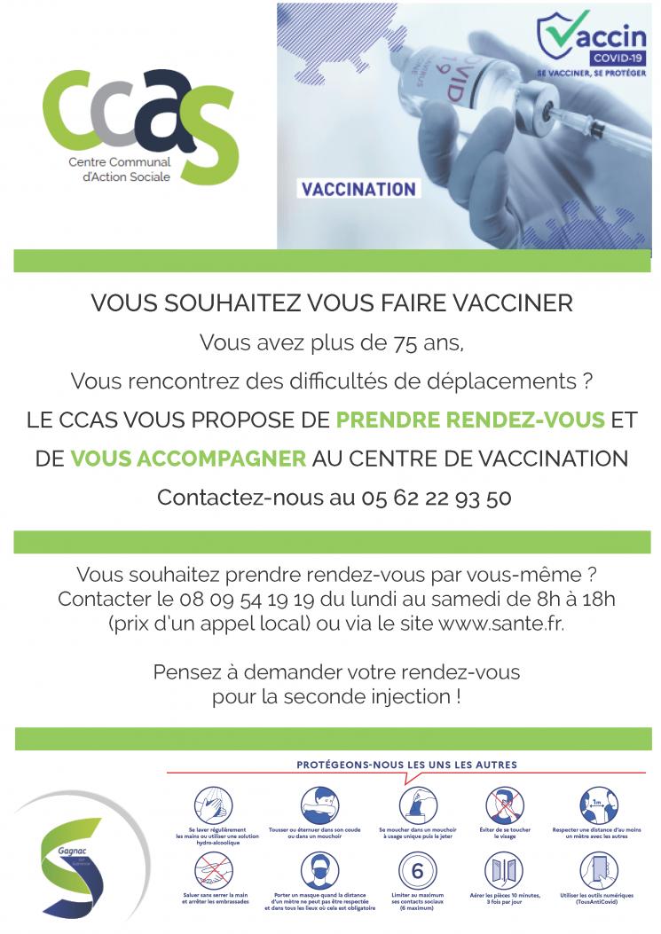 Le CCAS vous accompagne pour vous faire vacciner