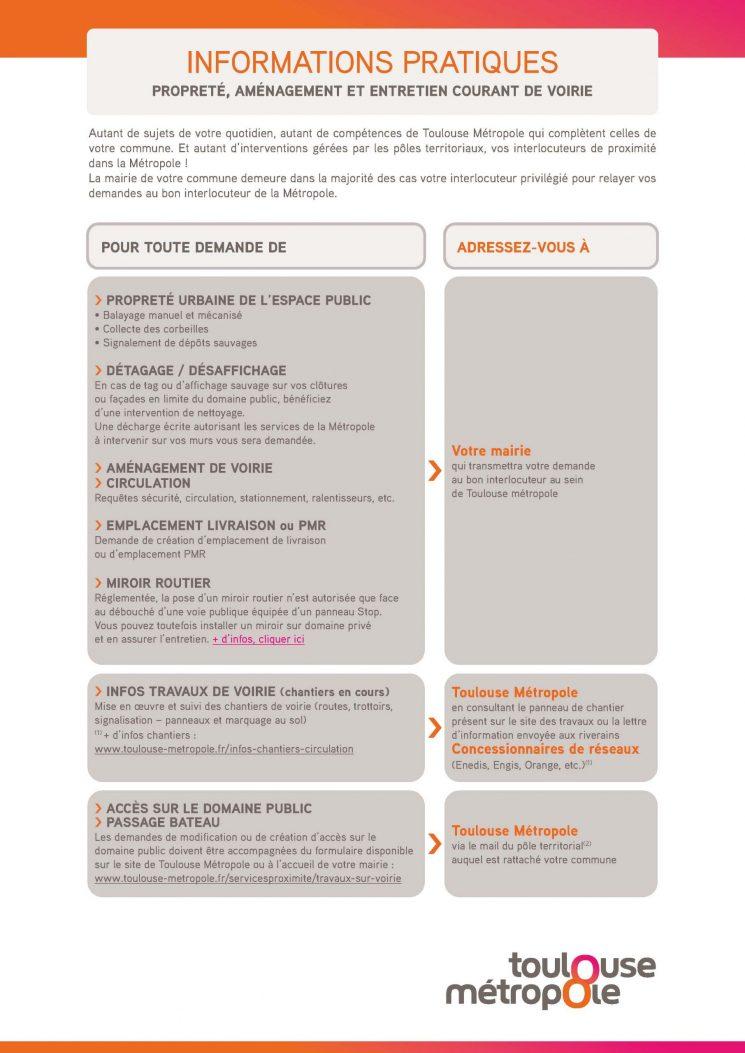 Toulouse Metropole : le bon interlocuteur en matière de propreté, aménagement et entretien courant de voirie
