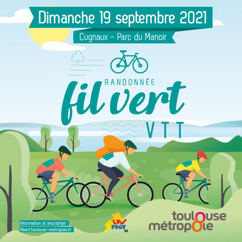 Edition 2021 du Fil vert, la  randonnée cycliste organisée par Toulouse Métropole et la FSGT 31